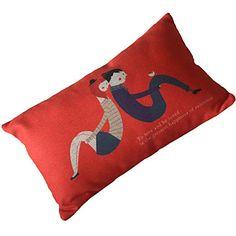 "20 ""Lovers rectangular Algodón / Lino almohada cubierta decorativa – USD $ 14.99"