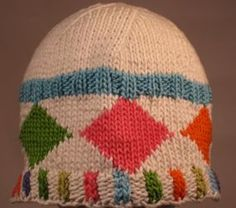 Mellow Argyle Beanie by Circle Craft member Trish Delaney (Bitchin' Knits)