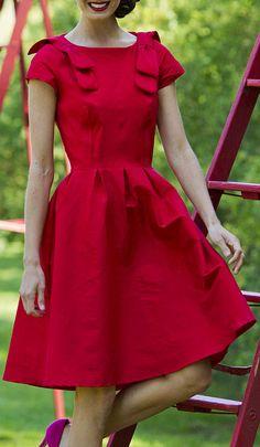 Red Carmine Dress...Luv...Luv...Luv!