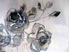 Thread and thrift: drawings crafts in 2019 акварель, рисунки Monet Paintings, Tinta China, A Level Art, Watercolor And Ink, Fabric Art, Textile Art, Collage Art, Flower Art, Painting & Drawing