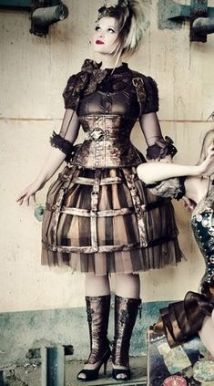 Gorgeous Steampunk Dress  - That's some infrastructure