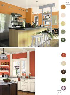 Orange Walls for Kitchens