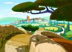 """A selection of pre-production concepts for a 2d animation series:""""LEONARDO""""  by Marco Pegoraro"""