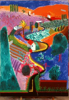 Los Angeles, Mulholland  Drive, David Hockney