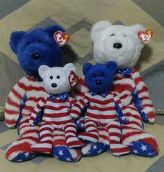 817d16a70a8 LIBERTY (WHITE AND BLUE HEAD) Ty Beanie babies and buddies