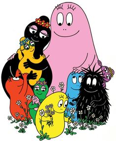 """I'm Barba Papa!"""" - Naturally i wouldnt noticed as a child, but looking back, BarbaPapa & BarbaMama, must be the first multi-racial couple on childrens books & tv. Good Old Times, The Good Old Days, 1970s Childhood, Childhood Memories, Desenhos Hanna Barbera, Familie Symbol, Morning Cartoon, Kids Tv, 80s Kids"""