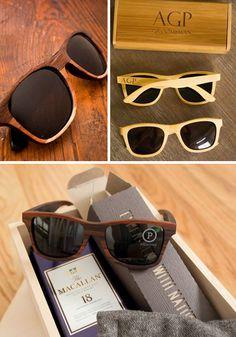 Drewniane dodatki dla Pana Młodego - drewniane okulary.