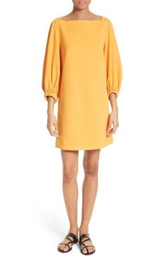 Dreamy soft crepe makes this boatneck dress an ultimate pick for spring