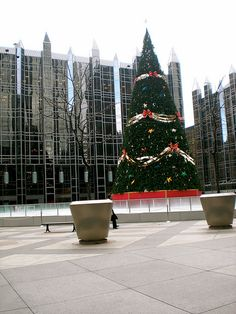 PPG PLACE At Christmas Time - Pittsburgh PA