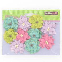 Hobbycraft Assorted Paper Flowers 10 Pack | Hobbycraft