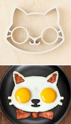 Kitty egg mold #OhlandtVet the cat lovers breakfast