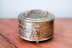 vintage brass cricket box, $16