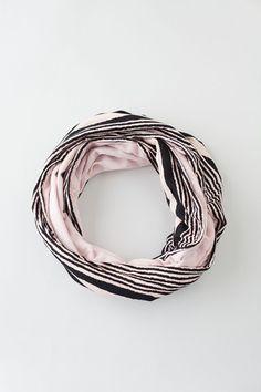 Aqua Floral Jersey Knit Infinity Scarf - Harts & Pearls