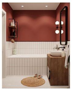Bathroom Design Inspiration, Bad Inspiration, Bathroom Interior Design, Design Ideas, Kitchen Interior, Wood Bathroom, Bathroom Colors, Small Bathroom, Tile Bathrooms