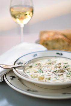 Yummy Clam Chowder - Recipe courtesy Kevin Davis of Steelhead Diner in Seattle!