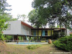 "Want to recreat this! Royan - Villa ""La Rafale"" ou ""Boomerang""  Architecte: Pierre Marmouget  Projet / Construction: 1955 - 1959"