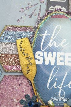 Sparkly - The Sweet Life ⋆ Lady Pattern Paper Scrapbooking Paper Scrapbook Blog, Scrapbook Designs, Scrapbook Paper, Pattern Paper, Paper Patterns, Basson, Electronic Paper, Laser Paper, Large Photos