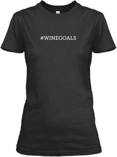 #Winegoals Black Women's T-Shirt Front