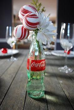 Christmas Coke Bottle Tablescape decorating-ideas