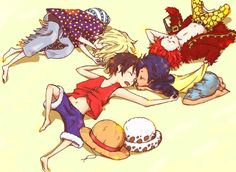 Trafalgar Law, Luffy, Eustass Kid and Killer #one piece