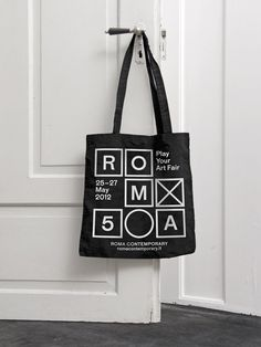 Corporate identity for the 5th edition of the art fair 'Roma Contemporary' in Rome — Kasper-Florio