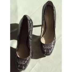 Platform heels Snakeskin platform heels Nine West Shoes Heels