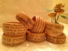 Wood burned Poetic Bangle's: V.V.Art's