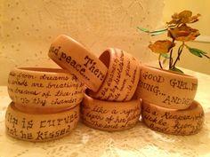 Wood burned Poetic Bangle's: V.V.Art's