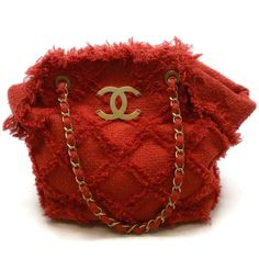 35b4752b2a95 Chanel Fringe Red Tote. Chanel ToteRed FabricChanel HandbagsChanel Bags.  Chanel Fringe Red Tote. Roundabout Resale Couture