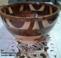 Bol - segmentos de madera - Abilio Tigero