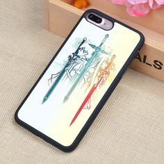 Sword art online Kirito Anime Soft Rubber Mobile Phone Cases OEM For iPhone 6 6S Plus 7 7 Plus 5 5S 5C SE 4 4S Cover Bags Shell