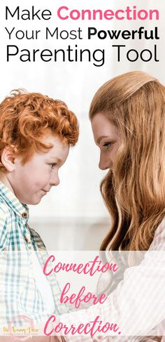 Connection with kids can certainly be one of the most powerful positive parenting tools. This article talks about connection before correction.