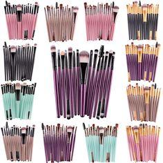 15Pcs Eye Shadow Foundation Eyebrow Eyeliner Eyelash Lip Brush - Free + Shipping  #MakeUp