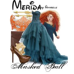 Masked ball outfit inspired by Merida from Brave! Disney Themed Outfits, Disney Bound Outfits, Princess Outfits, Disney Dresses, Prom Dresses, Quince Dresses, Quinceanera Dresses, Masquerade Outfit, Masquerade Ball Gowns
