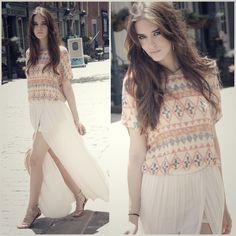 Clara Alonso : long skirt #summerlook