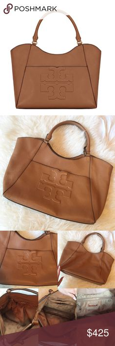 Tory Burch Bombe-T Tote👜 Authentic Tory burch bombe-T tote. Color is a walnut brown. Lightly used! No signs of wear! Can post more pictures upon request.                                                                                                                          •n o  t r a d e s• •s m o k e  f r e e / p e t  f r e e  h o m e•   •s a m e / n e x t  d a y  s h i p p i n g• Tory Burch Bags Totes
