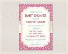 Baby Shower Invitation  Printable Baby Shower by PixieBabyShower