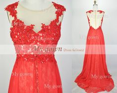 2014 Red Prom Dress,Straps Lace Beading Prom dresses, Wedding Dress,Homecoming Dress,Evening Gowns,Formal dress