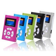 HOT SALE fashion USB Mini MP3 Player LCD Screen Support 32GB Micro SD TF Card Slick stylish design Sport Compact