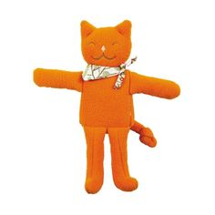 Chat doudou musical 24 cm Orange - Trousselier