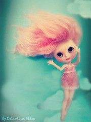 Clouds Come Floating by My Delicious Bliss #blythe #pink #artdoll #clouds