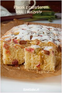 Placek z rabarbarem - I Love Bake Vanilla Cake, French Toast, Baking, Breakfast, Food, Morning Coffee, Patisserie, Bread, Bakken