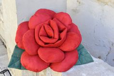 Rose pillow  red