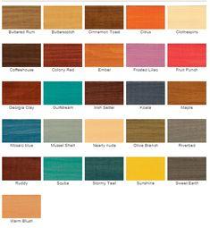 Zar Wood Stain Color Chart Pine Oak Ranch Bath Pinterest