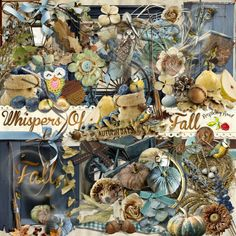 A beautiful Fall themed collection scrapbook collection from Raspberry Road.