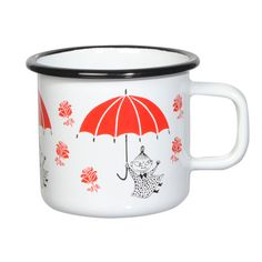 Little My Enamel Mug 3,7 dl The Moomin Enamel mugs are extremely durable and easy to take care of. This makes them the perfect mugs for your home, your cottage or even your boat!
