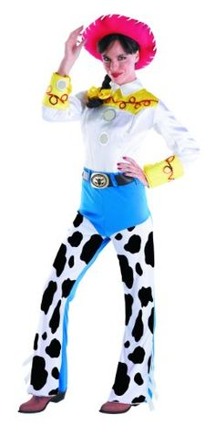 08da70b294 Women s Jessie Costume - Jessie Deluxe Adult Costume The Yodeling Cowgirl  From the Disney Classic Toy Story! Costume includes  Jumpsuit with attached  belt ...