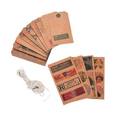 Vintage Postage Stickers & Tags - OrientalTrading.com