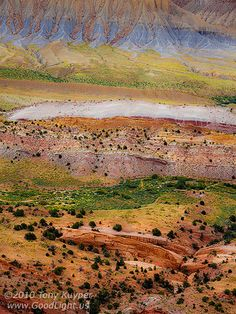 strike valley overlook by tony kuyper Capitol Reef National Park, National Parks, Rock Formations, Acre, Cool Photos, Photoshop, United States, Mountains, Landscape