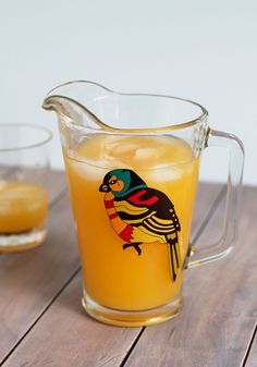 Try a Flight Pitcher. Let your friends get a taste of your latest lovingly crafted home brew in this charming bird-printed pitcher! #multi #wedding #modcloth